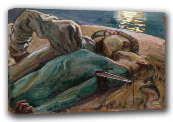 Gallen-Kallela, Akseli: The Lovers. Fine Art Canvas. Sizes: A3/A2/A1 (001086)